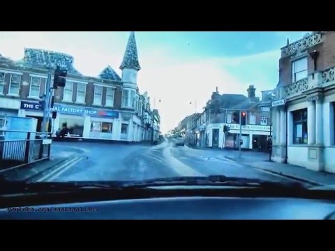 Driving In Harwich Town Centre High Street
