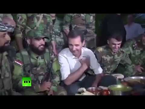 Syria: Assad visits frontline troops near Damascus in rare appearance