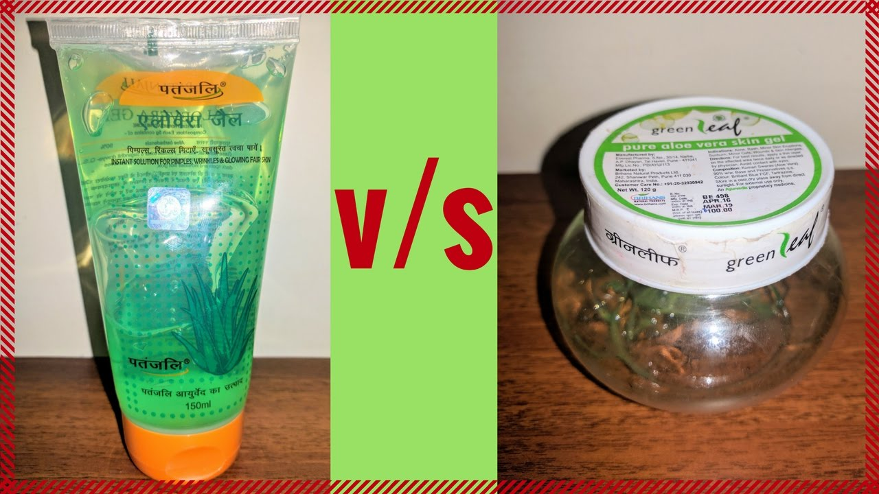 patanjali aloe vera gel vs green leaf aloe vera gel review youtube. Black Bedroom Furniture Sets. Home Design Ideas