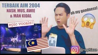 TERBAIK AIM 2004 Nash,Mus,Awie & Man Kidal | REACTION