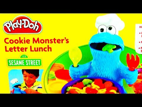 Thumbnail: Play Doh Cookie Monster Letter Lunch Learning ABCs Alphabet Playdough Sesame Street 123 Play-Doh Toy