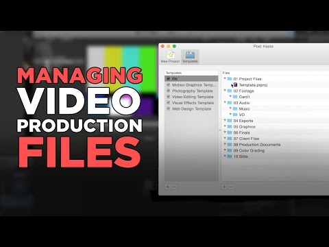 Managing Video Production Files