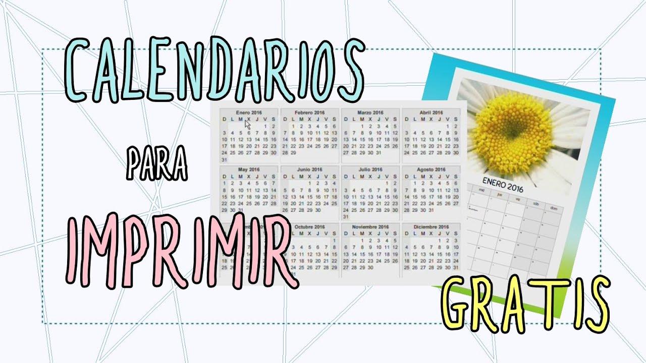 CALENDARIOS PARA IMPRIMIR GRATIS | Calendarios personalizados con ...