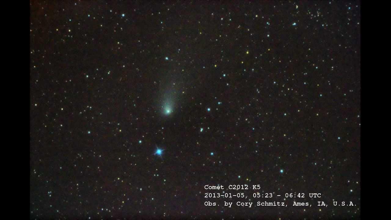 Worksheet Comet Telescope comet c2012 k5 through amateur telescope 2013 01 05 0523 06 0642utc