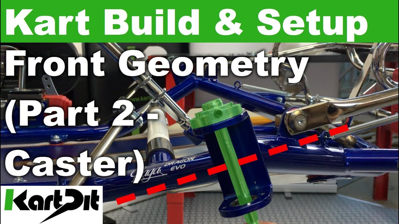 karting tutorial build setup front geometry part 2 caster rh youtube com Tony Kart Chassis Tony Kart Micro