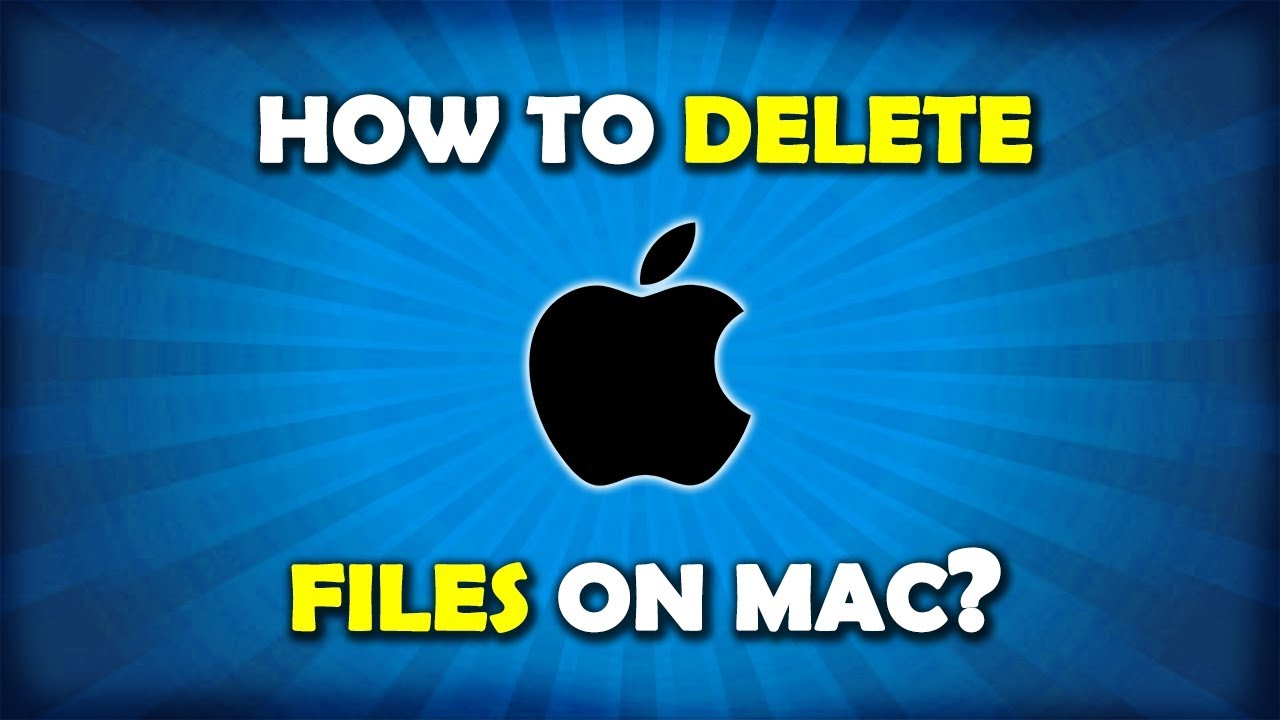 How to delete files on mac air