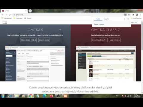 Download instalación y creación de un sitio con Omeka S
