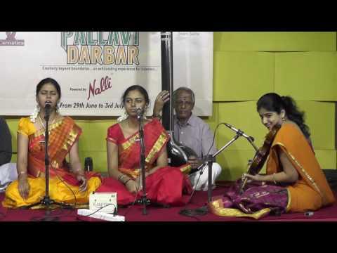 Carnatic Music    Vid.Anahita & Apoorva   Palllavi Darbar 2016   Web Streaming