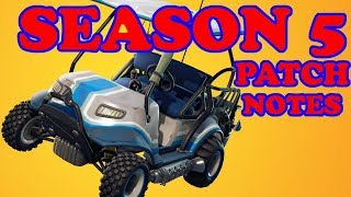 Fortnite Saison 5 Patch Notes Analysis - Double Shotgun Nerf, Rift, Map changes et ATK
