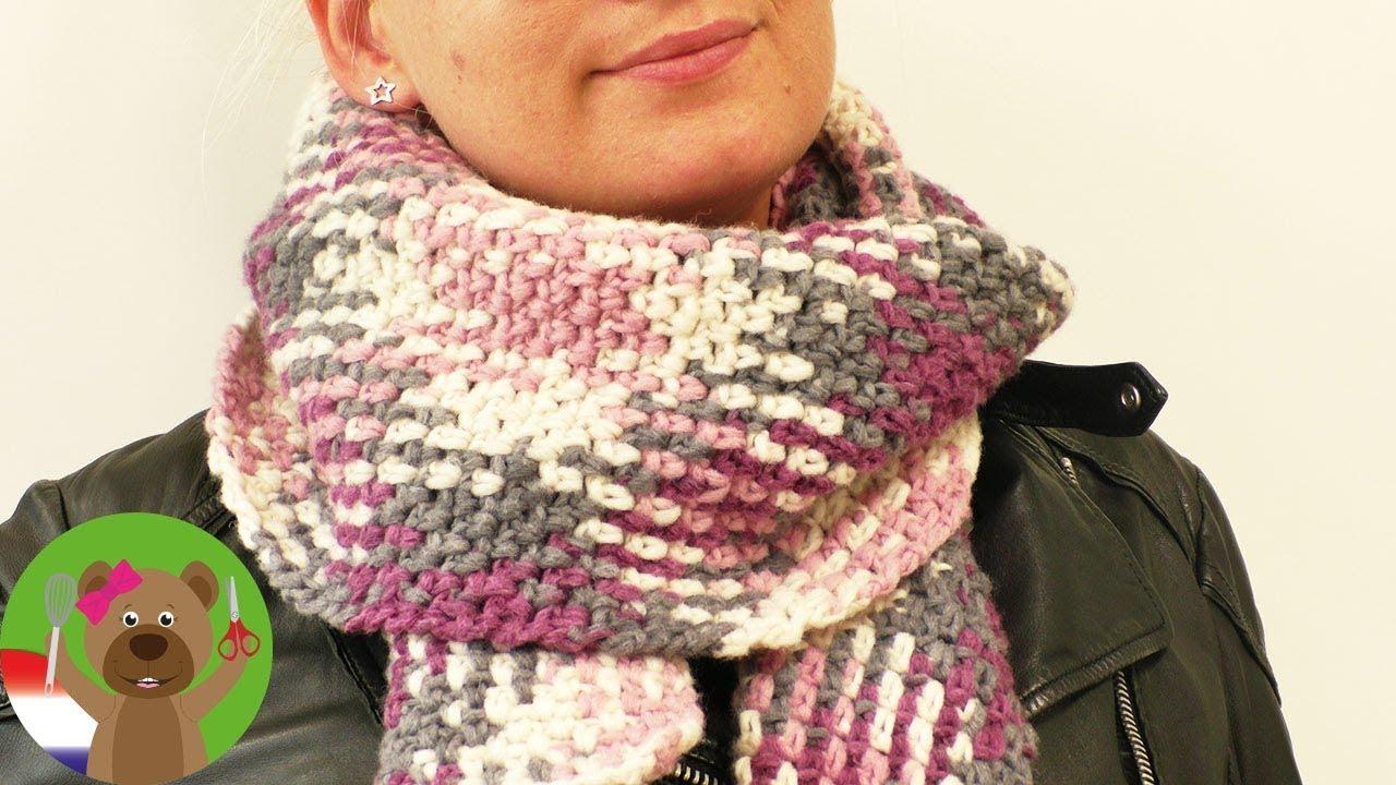 Xxl Sjaal Voor Herfst Haken Color Pooling Met De Woolly Hugs Plan