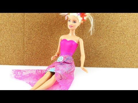 Rock für Barbie selber machen – DIY Kleidung Klamotten für Puppen
