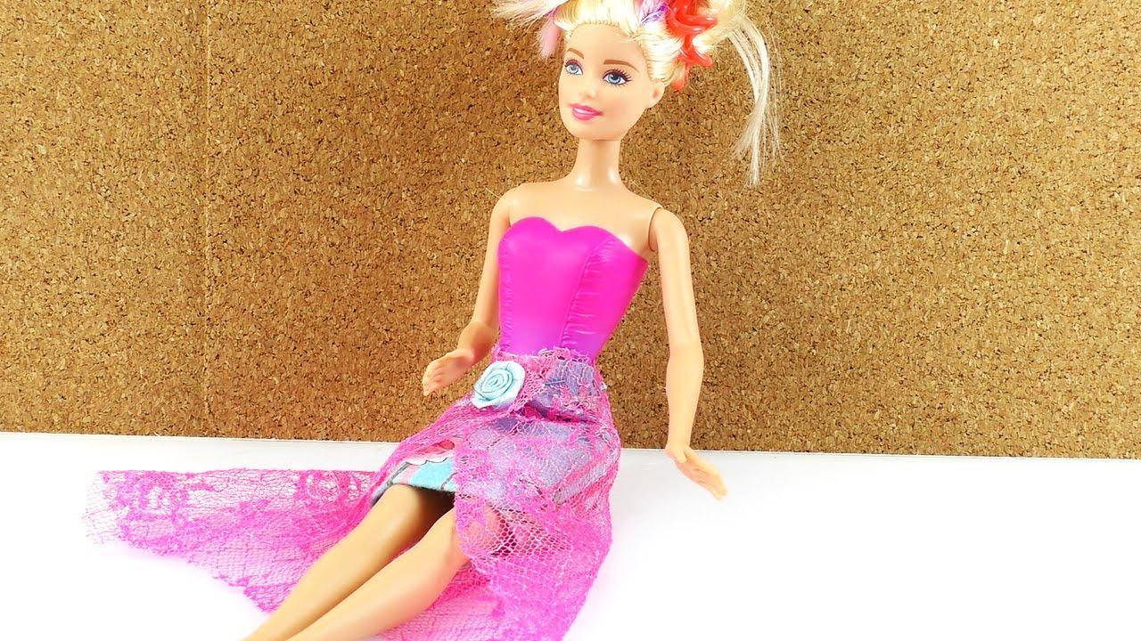 rock f r barbie selber machen diy kleidung klamotten f r. Black Bedroom Furniture Sets. Home Design Ideas