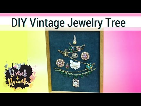 DIY Vintage Jewelry Tree - Nontraditional Christmas Tree