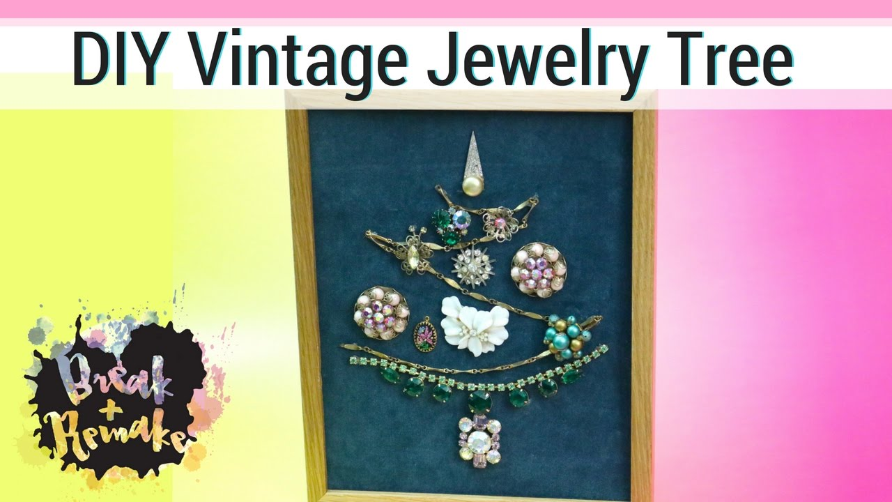 DIY Vintage Jewelry Tree - nontraditional Christmas tree - YouTube