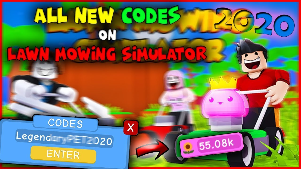 50 Pets All New Codes On Lawn Mowing Simulator 2020