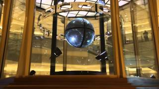 This is floating orb in Studio City in Macau. This is from the lowe...