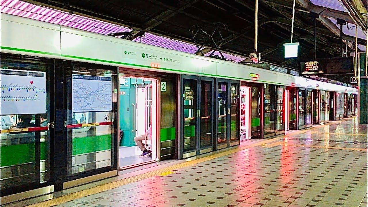 서울지하철 2호선 당산역의 전동차들 / Seoul Line2. Dangsan station train