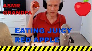 Eating Juicy Red Apple - ASMR Dining