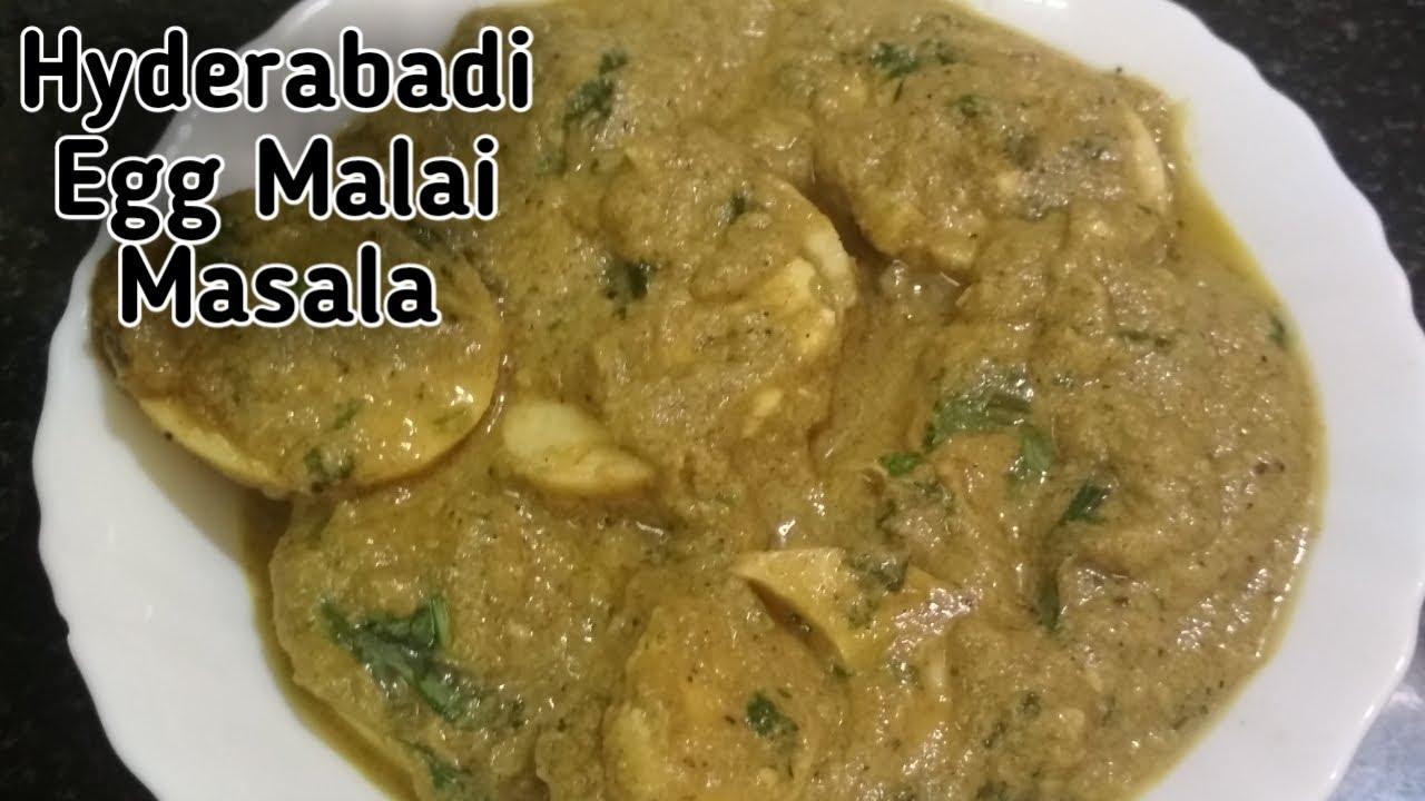 Hyderabadi Egg Malai Masala / How to make Hyderabadi Egg Malai Masala /Andhra Samayal