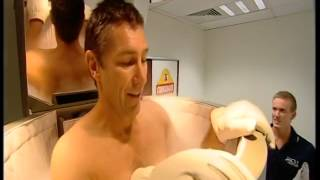 Cryotherapy - Australian Rugby players using a Cryosauna