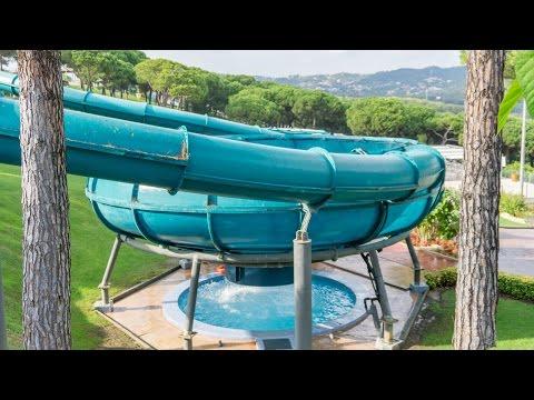 Water World Lloret - The Storm Trichterrutschen | Space Bowl Slides Onride