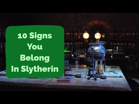 10 Signs You Belong In Slytherin | Harry Potter House Quiz