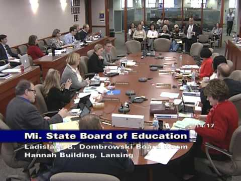 Michigan State Board of Education Meeting for February 14, 2017 - Afternoon Session
