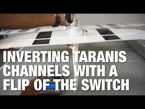 Taranis Inverting Channels with the Flip of a Switch for Inverted Flight
