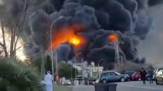 El incendio del Polígono Fuente del Jarro grabado por trabajadores