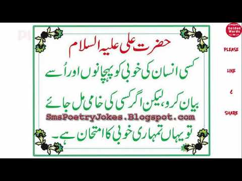 20 Best Quotes Of Hazrat Ali A S About Life And Love In Urdu And Hindi  YouTube