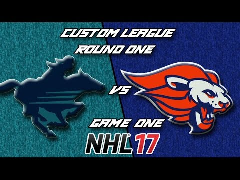 NHL 17 - Custom League - Calgary @ Baltimore Round 1 Game 1