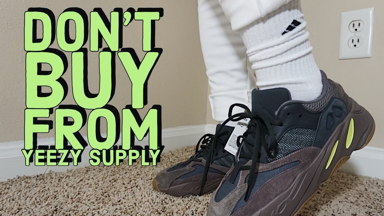 detailed look ffc01 5c036 DON'T BUY FROM YEEZY SUPPLY !!!! ADIDAS YEEZY 700 MAUVE REVIEW & ON FEET...