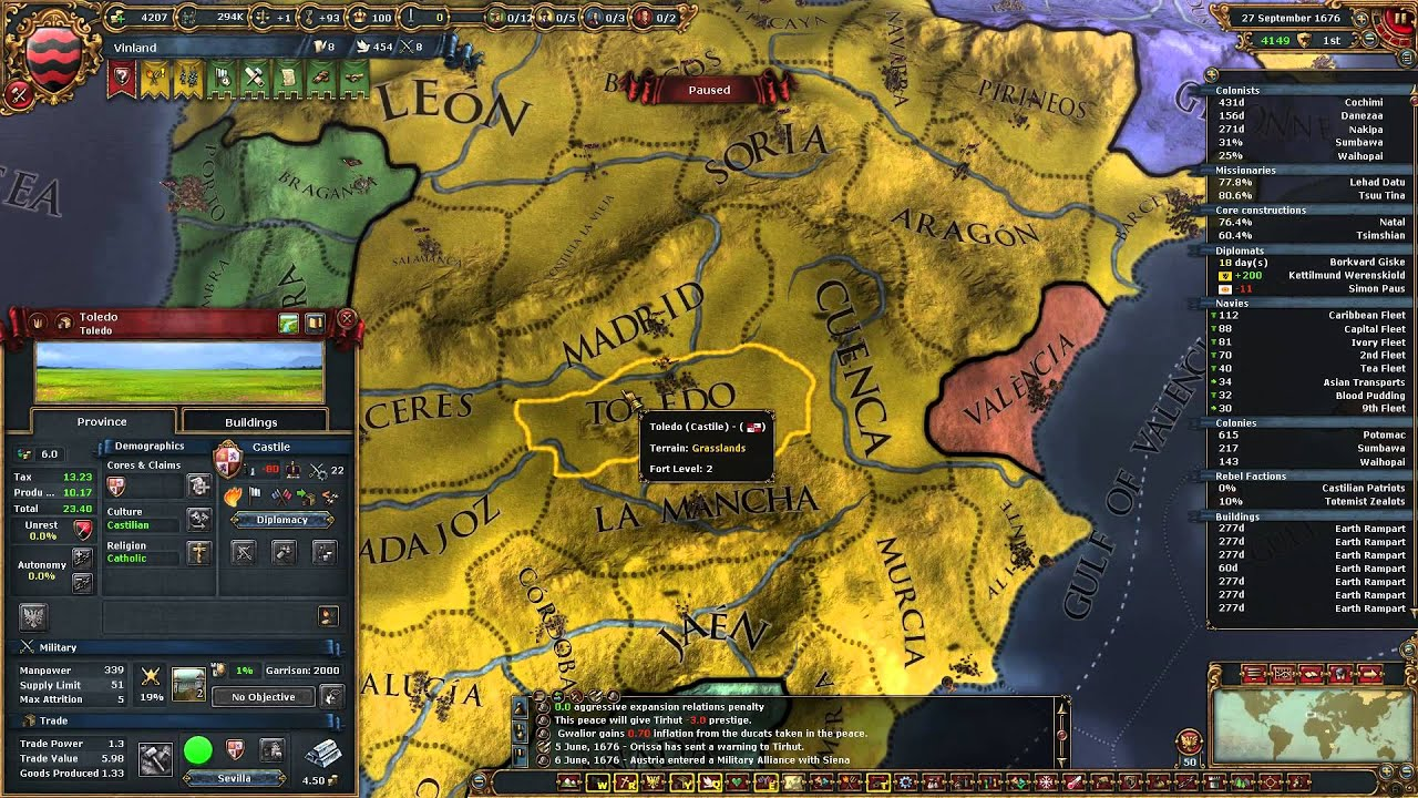 Eu4 Iberian Wedding.Eu4 Vinland 48 The Iberian Wedding Europa Universalis Iv El Dorado