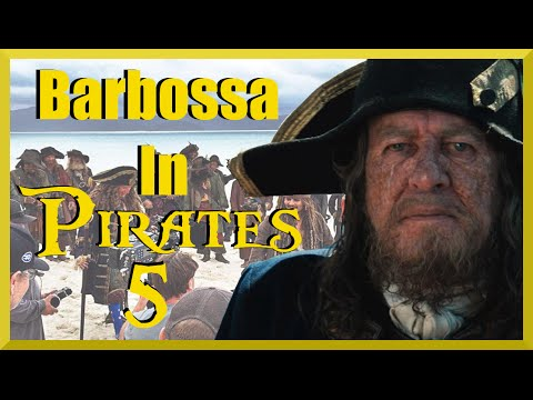 Barbossa in Pirates of the Caribbean: Dead Men Tell No Tales