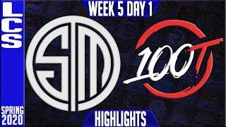 TSM vs 100 Highlights   LCS Spring 2020 W5D1   Team Solomid vs 100 Thieves