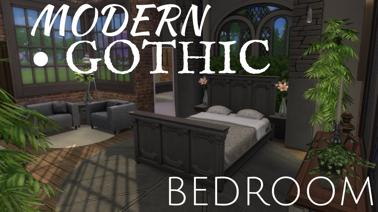 The sims 4 room build modern gothic bedroom