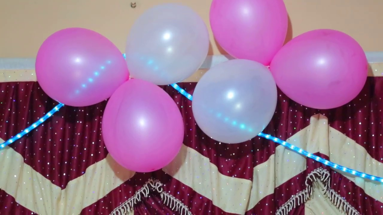 birthday decoration in home - YouTube