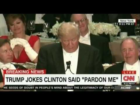 Trump and Hillary try to be funny and controversal at the Alfred Smith Dinner