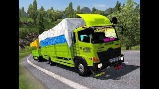 "ETS 2 | Hino 500 Gandeng 510 Hp ""Fake Driver"" Stuck Di Jalur Pendakian Purwokerto - Cilacap"