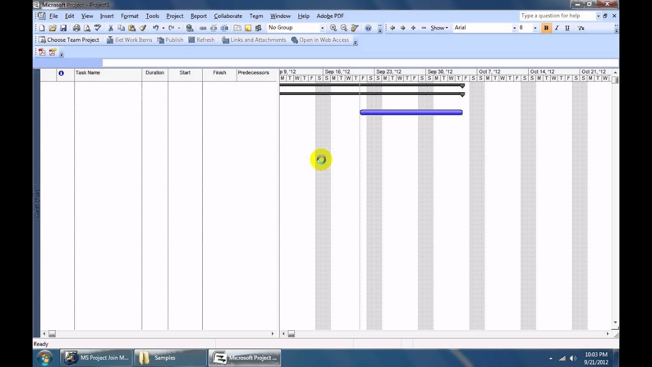 How To Use Ms Project Join Multiple Project Files Into One Software