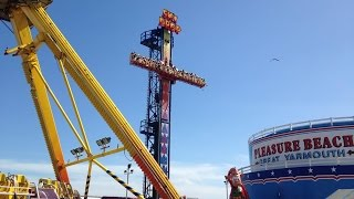 Great Yarmouth Pleasure Beach Vlog August 2015