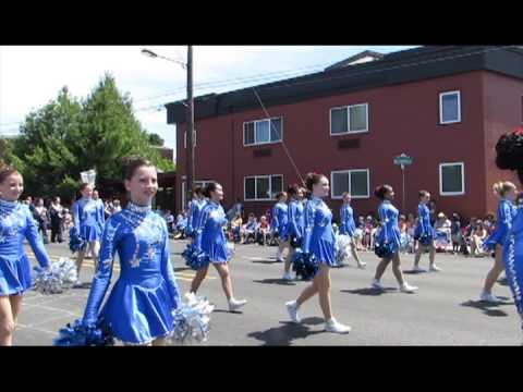 Frontier Middle School Drill Team & Band -- Jr Rose Parade 2013
