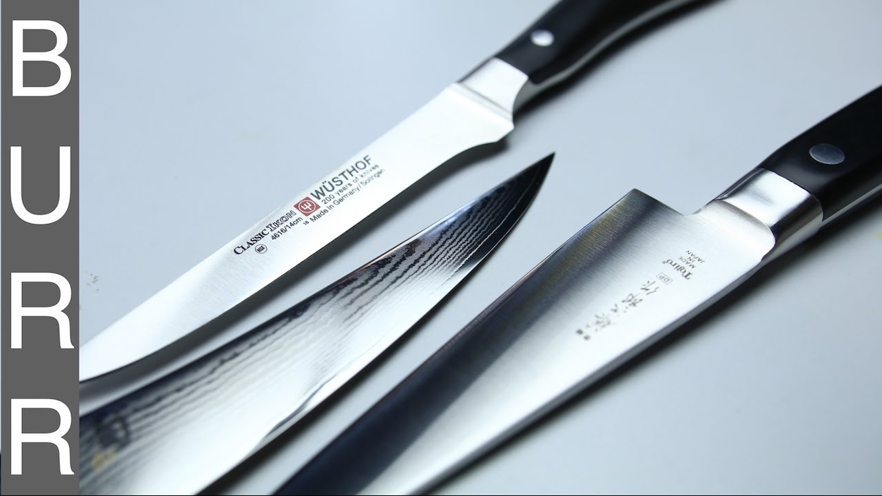 Japanese vs German Shun vs Tojiro vs Wusthof Boning Knives - YouTube