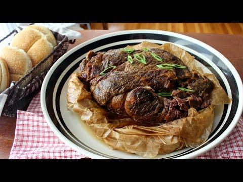 Paper Pork - Slow Roasted Pork Shoulder Cooked in Parchment - Pulled Pork Recipe