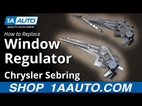 How to Replace Window Regulator 01-06 Chrysler Sebring