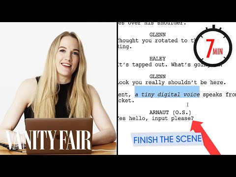 Hollywood Screenwriter Attempts To Write A Scene in 7 Minute