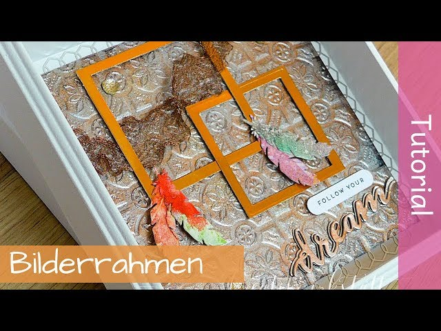 Bilderrahmen-Deko mit Black Ice Technique - Tutorial - Stampin' Up! - YouTube