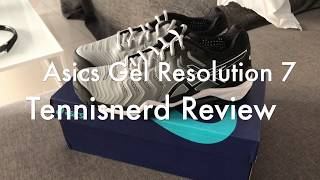Asics Gel Resolution 7 Tennis Shoe Review