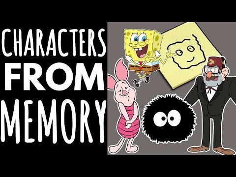 Thumbnail: Drawing Cartoon Characters From Memory // Ft. my Family