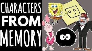 Drawing Cartoon Characters From Memory // Ft. my Family